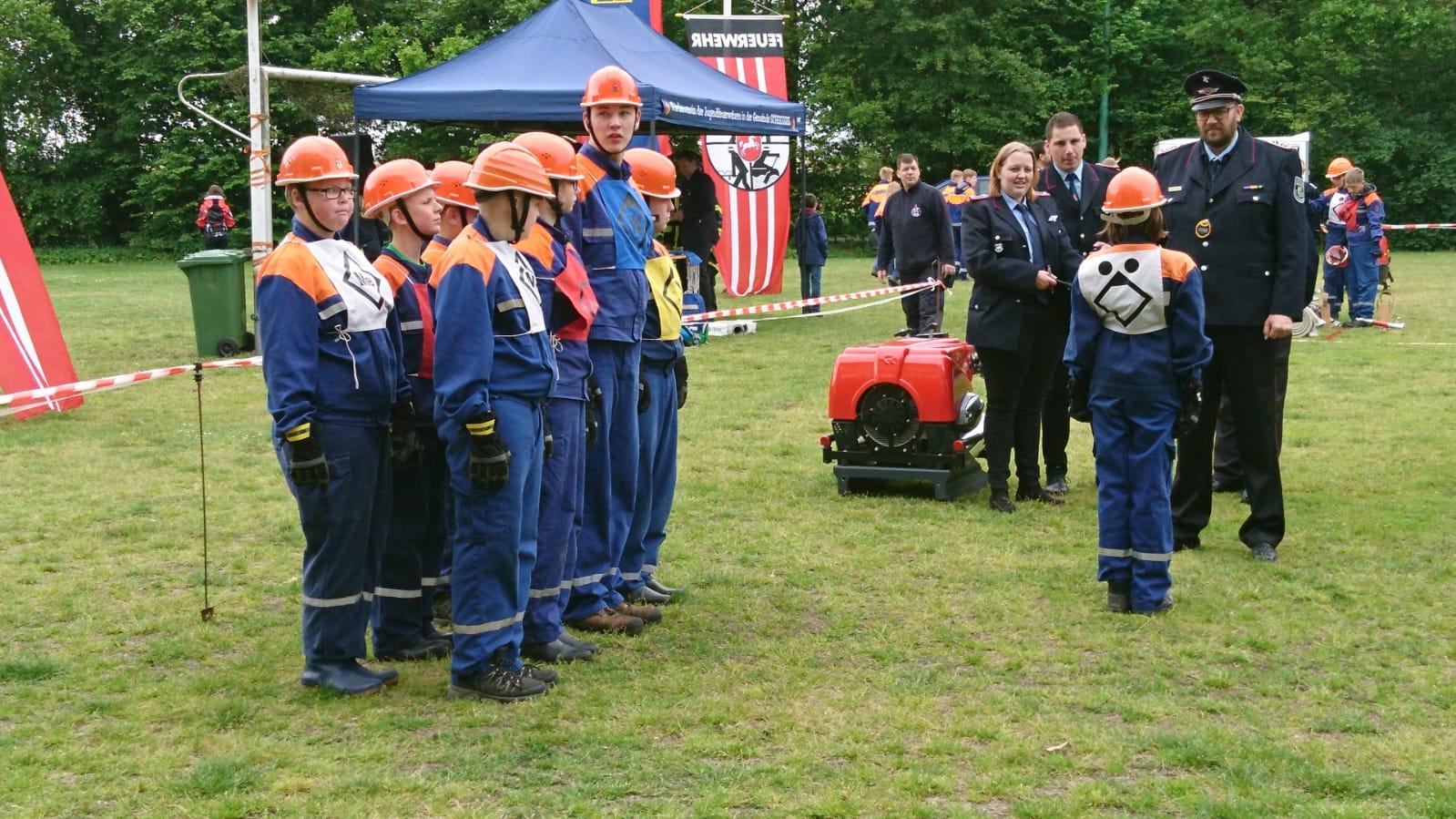 Ein erfolgreiches Wochenende liegt hinter der Jugendfeuerwehr Kettenburg