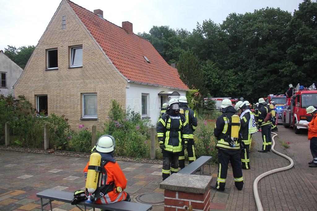 Alarmierung zum Dachstuhlbrand in die Breslauer Straße