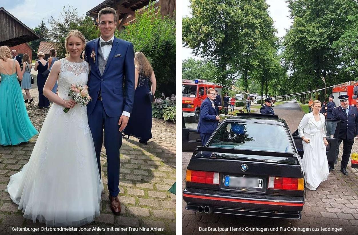 Read more about the article Wir gratulieren gleich drei Feuerwehrkameraden zur Hochzeit!